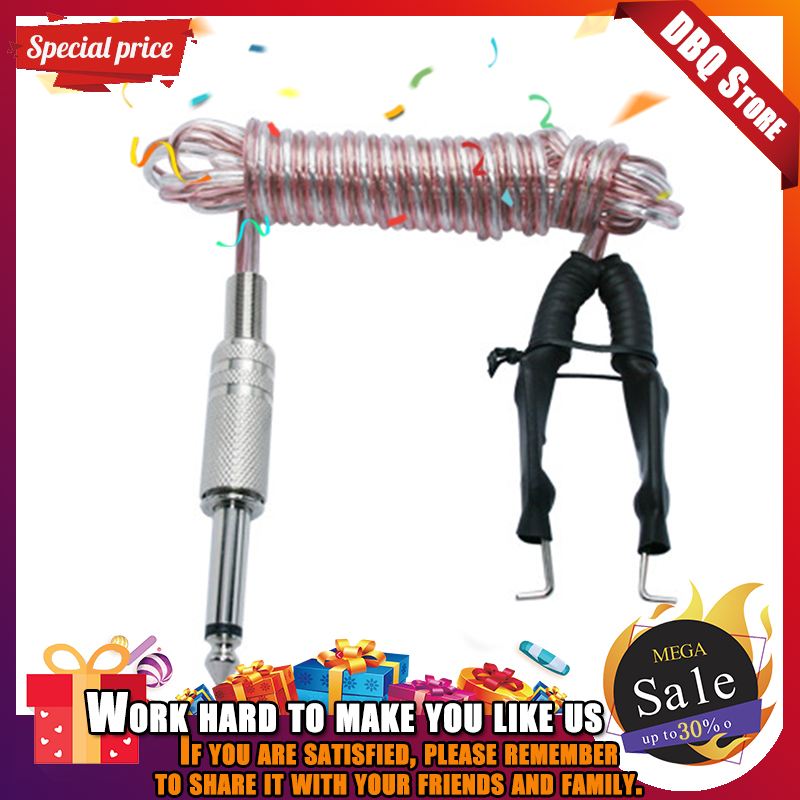 1Pcs Professional Metal Head Transparent Microphone Clipcord TattooHook Line For Tattoo Power Supply Machine Kit Switch Pedal