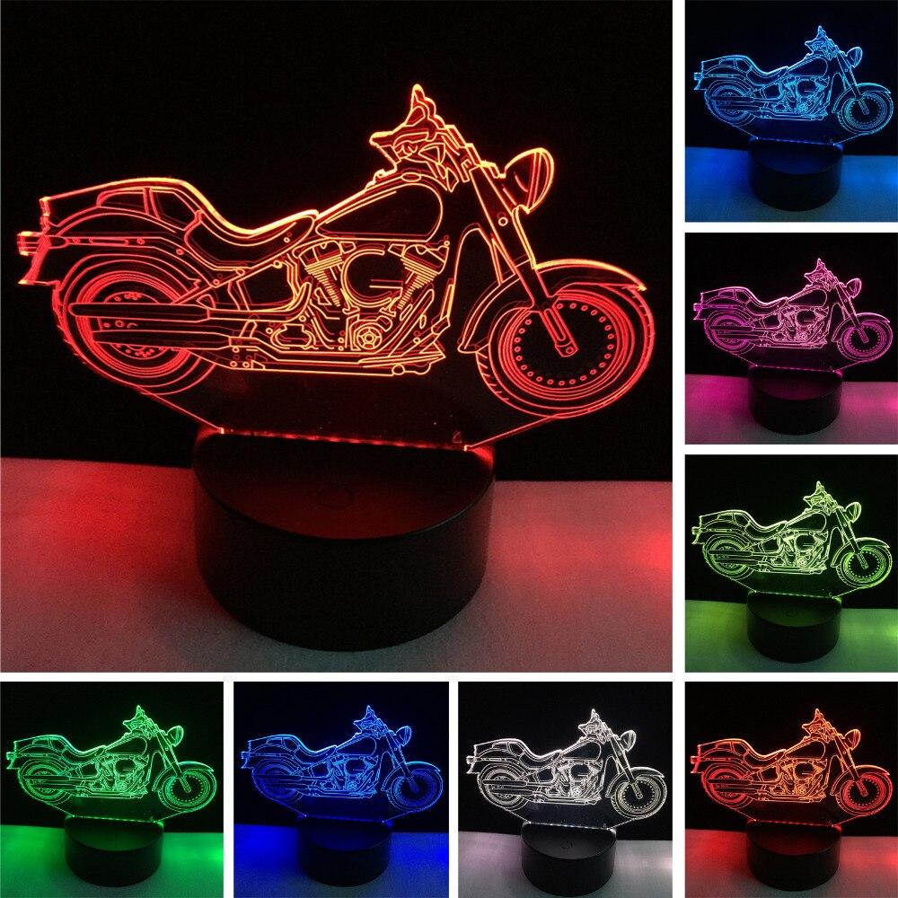 Luzes da Noite motocicleta 3d night light desk Lâmpadas Incluídas : Sim