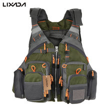 Lixada Fly Fishing Vest Adjustable Mesh Mutil-Pocket Outdoor Sport Life Safety Jacket Swimming Sail for Pesca fishing clothes(China)