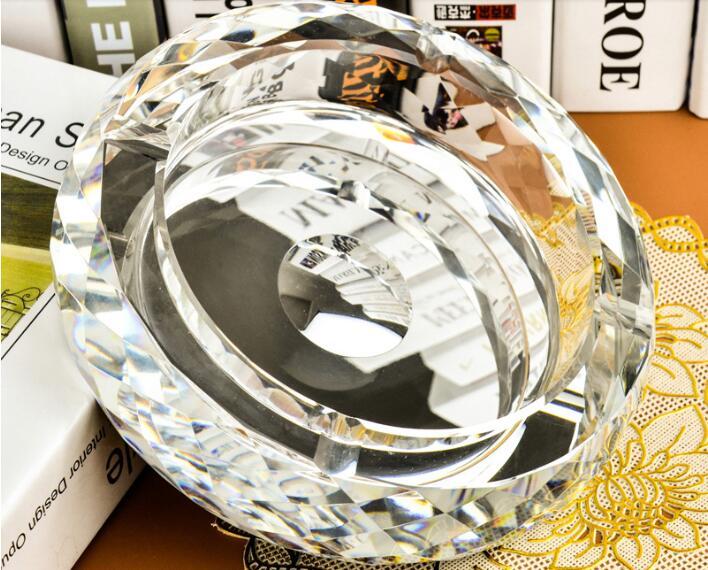 15 см круглая Хрустальная пепельница Европа Тип пепельница - Цвет: Silver
