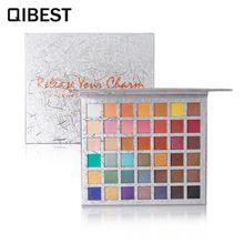 Qibest Matte Eyeshadow Palette Shimmer Nude Glitter Makeup Paletas De Sombras 42 Colors Rose Pigment Eyesahdow