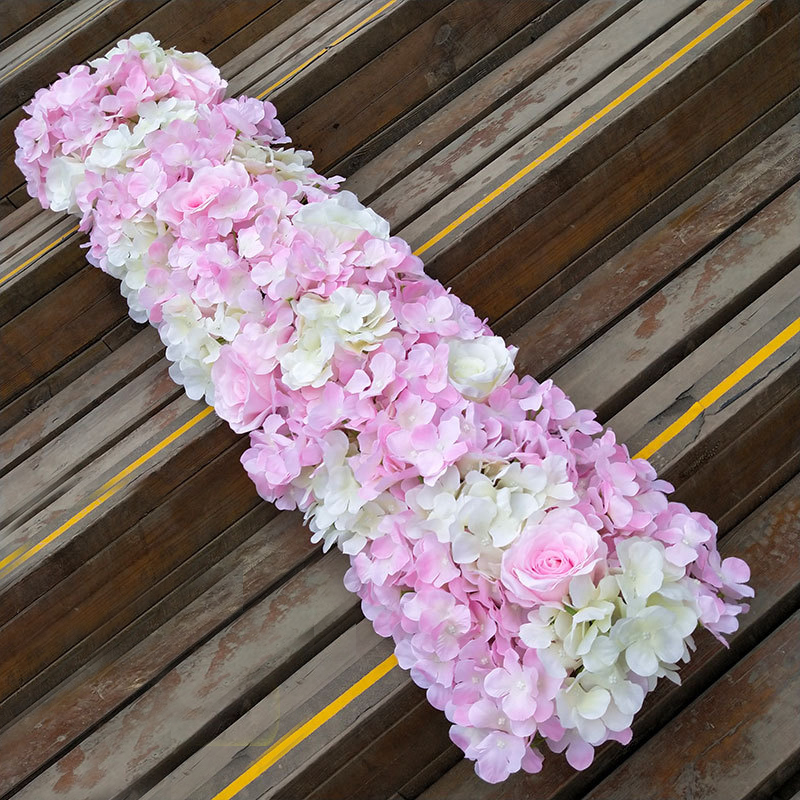 Artificial Silk Flower Wedding Road Lead Hydrangea Peony Rose Flower for Wedding Arch Square Pavilion Corners Decorative Flores in Wedding Arches from Home Garden