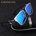 KINGSEVEN Polarized Sunglasses Women Newest Brand Square Alloy frame Specialties Sun Glasses For Men/Women Oculos UV400 K7936