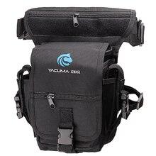 多目的フィッシングバッグ 19.5*12.5*9.5 センチメートル防水屋外脚バッグキャンバスポータブル多機能釣具バッグバックパック