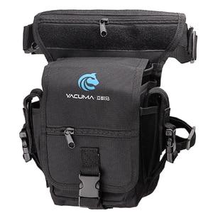 Image 1 - Multi Purpose Fishing Bag 19.5*12.5*9.5cm Waterproof Outdoor Leg Bag Canvas Portable Multifunction Fishing Tackle Bag Backpack