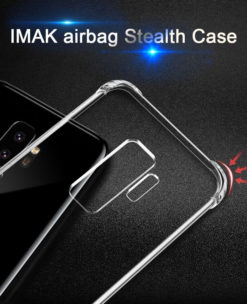 IMAK Super-mince airbag Furtif Soft cas de Téléphone Pour Samsung Galaxy S9 Pare-chocs cas Pour Samsung S9 Plus cas