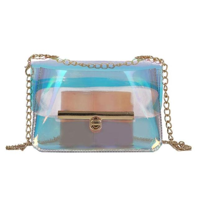 7be4d0fb2ea0 Laser Shoulder Bags for Women Clear Crossbody Bag Transparent Mini Messenger  Bags Handbags Fashion Clear PVC Jelly Totes 2018