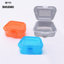 SHOU DIAO Fishing Bait Storage Box 1Pc Breathable Plastic  Live Worms Earthworm Lures tackle accessories Color Random delivery
