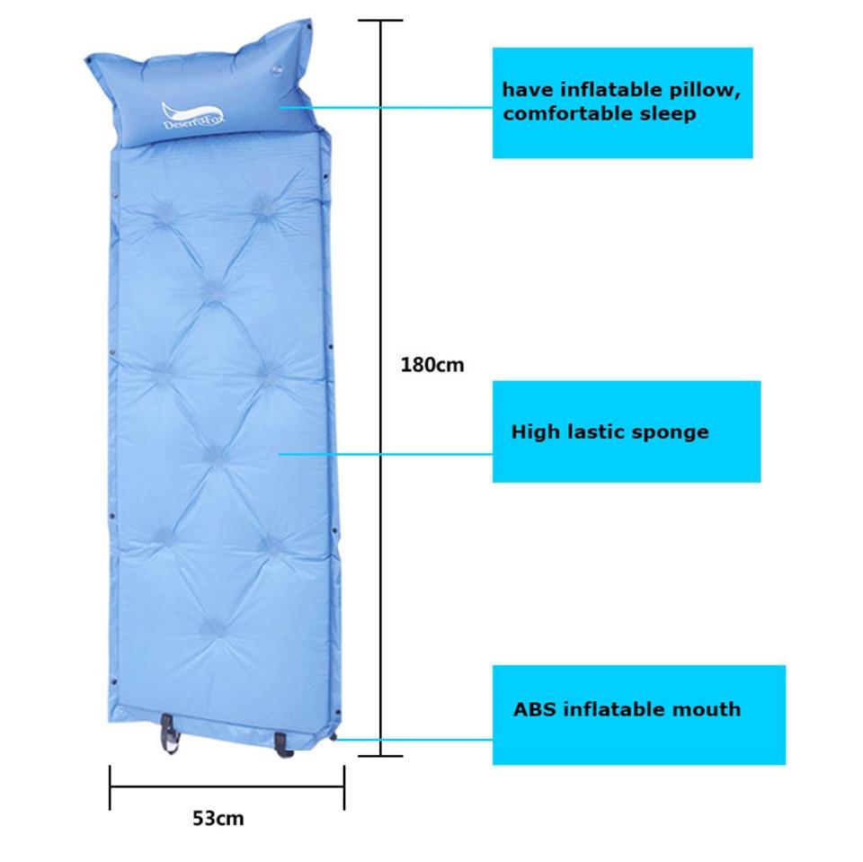 dormir com travesseiro inflável, mochila confortável do