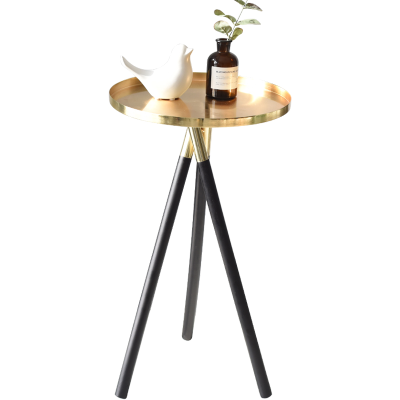 Nordic style minimalist designer creative golden living room sofa corner table bedroom small side table coffee table
