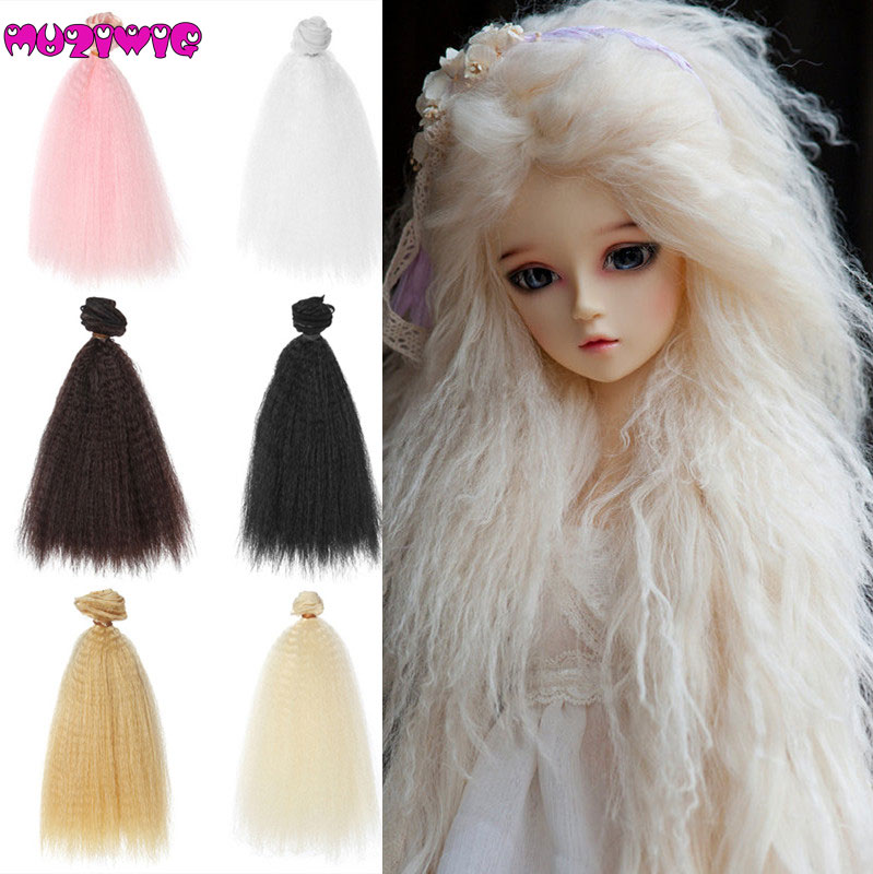 Dolls & Stuffed Toys Toys & Hobbies 1 Piece 15*100cm Small Screw Curly Doll Wig Hair Wefts Extensions For Bjd/blyth/american Dolls Diy Accessories
