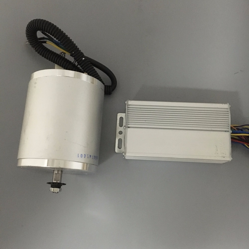48V 1500W Motor Controller Drive High Speed Brushless DC Motor 5000RPM Electric Ebike Scooter Brushless Motor kits 10 50v 100a 5000w reversible dc motor speed controller pwm control soft start high quality
