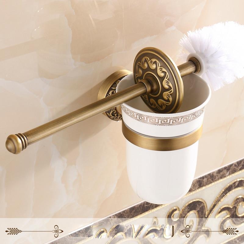 Free shipping wall mounted bathroom accessories brass - Wall mounted ceramic bathroom accessories ...