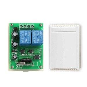 Image 4 - QIACHIP 433 Mhz Universel Sans Fil Commutateur de Commande À Distance DC 12 V 2CH RF Relais Récepteur Module + 2 CH RF 433 Mhz À Distance Émetteur
