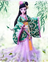 2019 new dolls for girl chinese traditional doll toys for children's Beautiful Vintage Style Princess Ethnic Doll with Dress