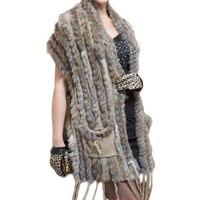 7695715e7c Women Long Fur Vest 2018 Spring Knitted Sleeveless Plus Size Vests Ladies  Waistcoat Female Long Vest