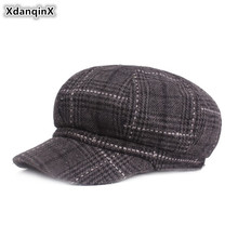 XdanqinX Women's Cap Autumn And Winter Thick Warm Newsboy Caps Elegant Fashion Painter Hats For Women Brand Female Winter Hat xdanqinx autumn winter women s hat 100