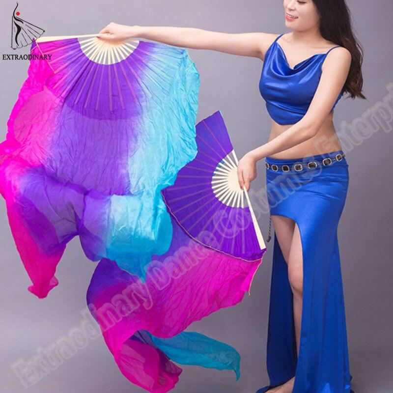 New 100% Silk Veils Hand Made belly dance Fan Children ...