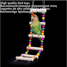 Sunny Bird Wooden Ladders Rocking Scratcher Perch Climbing Stairs Hamsters Cage Parrot Ladder Climb Stand Holder Toys