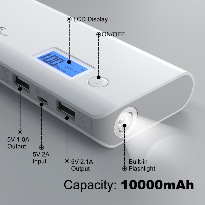 Banco do Poder powerbank para iphone samsung lg Saída : 5.1 V/2.1a