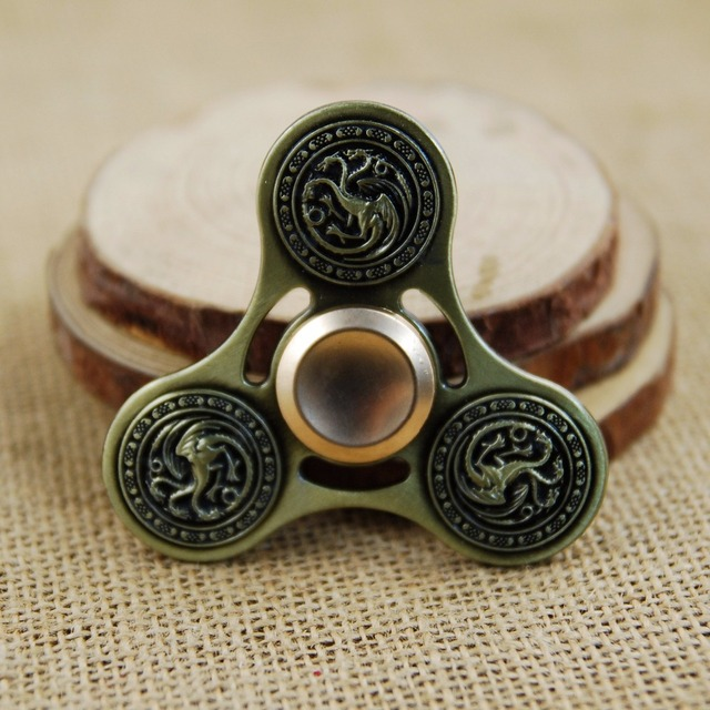 Fid Spinner Game of Thrones Badge of House Stark House Targaryen