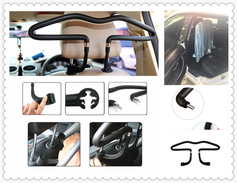 Auto Seat Back PU Stainless Steel Hanger Suit Car Accessories For Toyota FJ Cruiser RAV4 CROWN REIZ PRIUS COROLLA