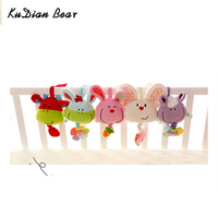 Cute Animal Baby Toys 0 12 Months Mobile Music Bell Soft Plush Toy Toddler Toys Bed Cart Hang Bell BYC141 PT49