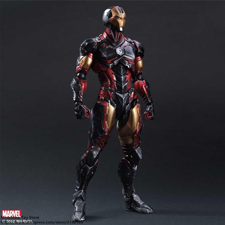 ZXZ Marvel Мстители Железный человек 28 см фигурка модель осанки аниме украшение Коллекция фигурка игрушки модель для детей
