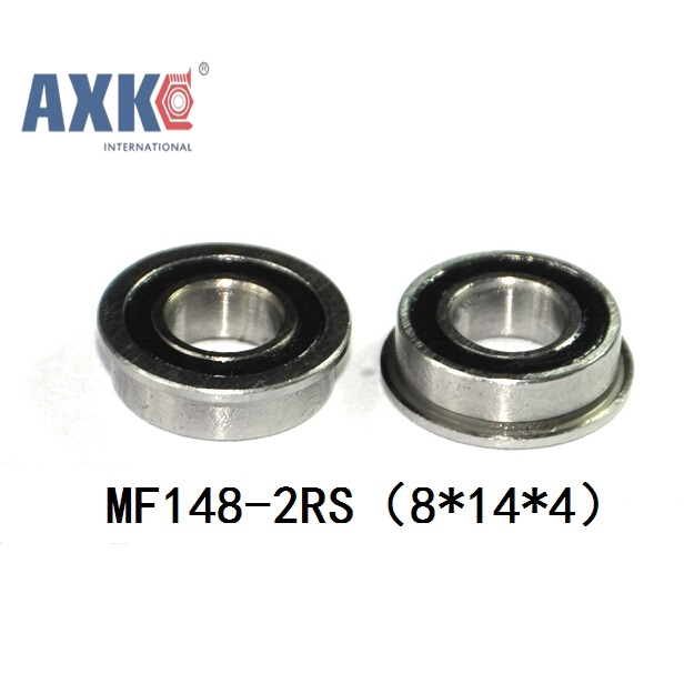 Free Shipping 4PCS  Flanged 8X14X4  blue Rubber Bearings  ABEC-3  MF148 2RS free shipping 1 2x3 4 x5 32 blue rubber bearings abec 3 r1212 2rs motor bearing model bearing 12 7x19 05x3 969mm