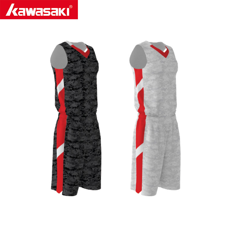 Kawasaki Men's Custom Basketball Jersey Competition Breathable Sleeveless Reversible Uniforms Suits Youth Sports Clothes kawasaki quick dry custom basketball uniform sets shorts basketball jersey mens reversible basketball uniform for basketball