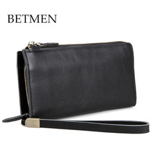 BETMEN Luxury Brand Men Bag Genuine Leather Handbag Men Clutch Bags Business Wallet Male Card Holder