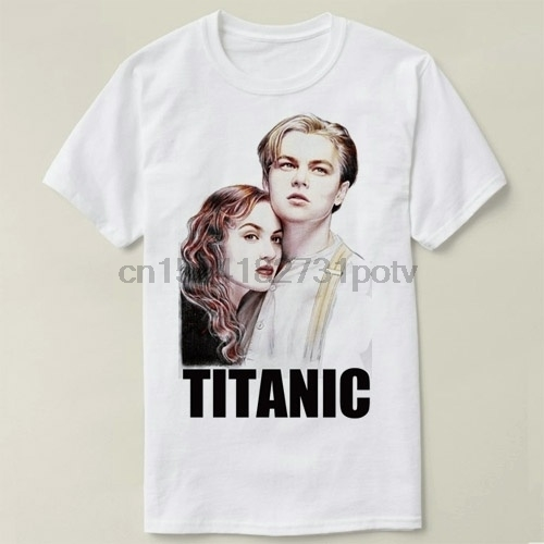 13e8d6fb1 Leonardo DiCaprio Titanic Tee Short Sleeve Cotton T-shirt Women and Men