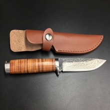 58RHC  High-carbon steel  Handmade Damascus steel Knife  Straight Knife Forged Steel  Hunting Knife Fixed Tactical Knives