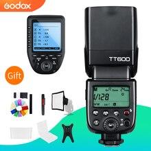 Беспроводная вспышка Godox TT600 2,4G GN60 Master/Slave, Вспышка Speedlite с триггером Xpro для Canon, Nikon, Sony, Pentax, Olympus, Fuji
