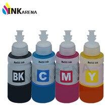 4 צבע מילוי דיו מבוסס צבע ערכת עבור Epson L100 L110 L120 L132 L210 L222 L300 L312 L355 L350 L362 l366 L550 L555 מדפסת אקו דיו