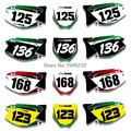 For Kawasaki KX125 KX250 2003-2012 Custom Number Plate Backgrounds Graphics Sticker &Decals Kit