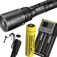 NITECORE SRT7GT Flashlight Set CREE XP L HI V3 RGB UV Flashlight max 1000LM beam distance 450m torch with battery and charger