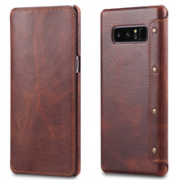 For Samsung Galaxy Note 8 Case Cover 6 32 Inch Cowhide Genuine Leather Flip Wallet Phone