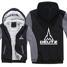 ฤดูหนาว Deutz Fahr รถแทรกเตอร์ Hoodies Mens Zipper เสื้อขนแกะ Thicken Deutz Fahr รถแทรกเตอร์เสื้อกันหนาว