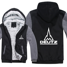 Winter Deutz Fahr Traktor Hoodies Mens Zipper Mantel Fleece Verdicken Deutz Fahr Traktor Sweatshirt Pullover