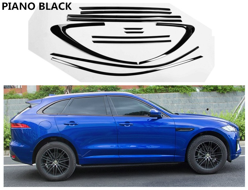 For Jaguar F-PACE 2016 2017 2018 Full Window Trim Decoration Strips Stainless Steel Car Styling Accessories Cover TrimFor Jaguar F-PACE 2016 2017 2018 Full Window Trim Decoration Strips Stainless Steel Car Styling Accessories Cover Trim