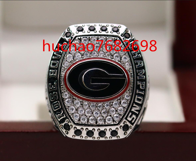 On Sale 2017 2018 Georgia Bulldogs Rose Bowl Ring National Football Championship Copper Ring 7-15 Size