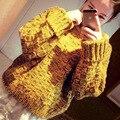 2015 мода тянуть роковой водолазка вязаный свитер пальто женщин корейский хеджирования осень зима дна женщины свитера и пуловеры