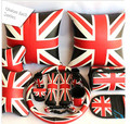 15pcs/set union jack series handbrake gears pillow steering wheel cover accessories lumbar cushion for car universal