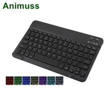 Animuss Универсальный 7 цветов с подсветкой Мини Беспроводная Bluetooth клавиатура для планшет ноутбук ПК смартфон Поддержка IOS Android Windows