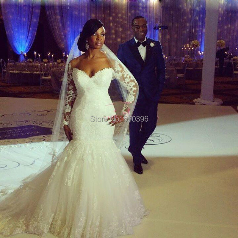 Off The Shoulder Lace Wedding Dresses Beaded