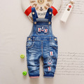 Free shipping 2017 Spring autumn  cotton denim overalls baby boys  jeans,rompers, kids child pants