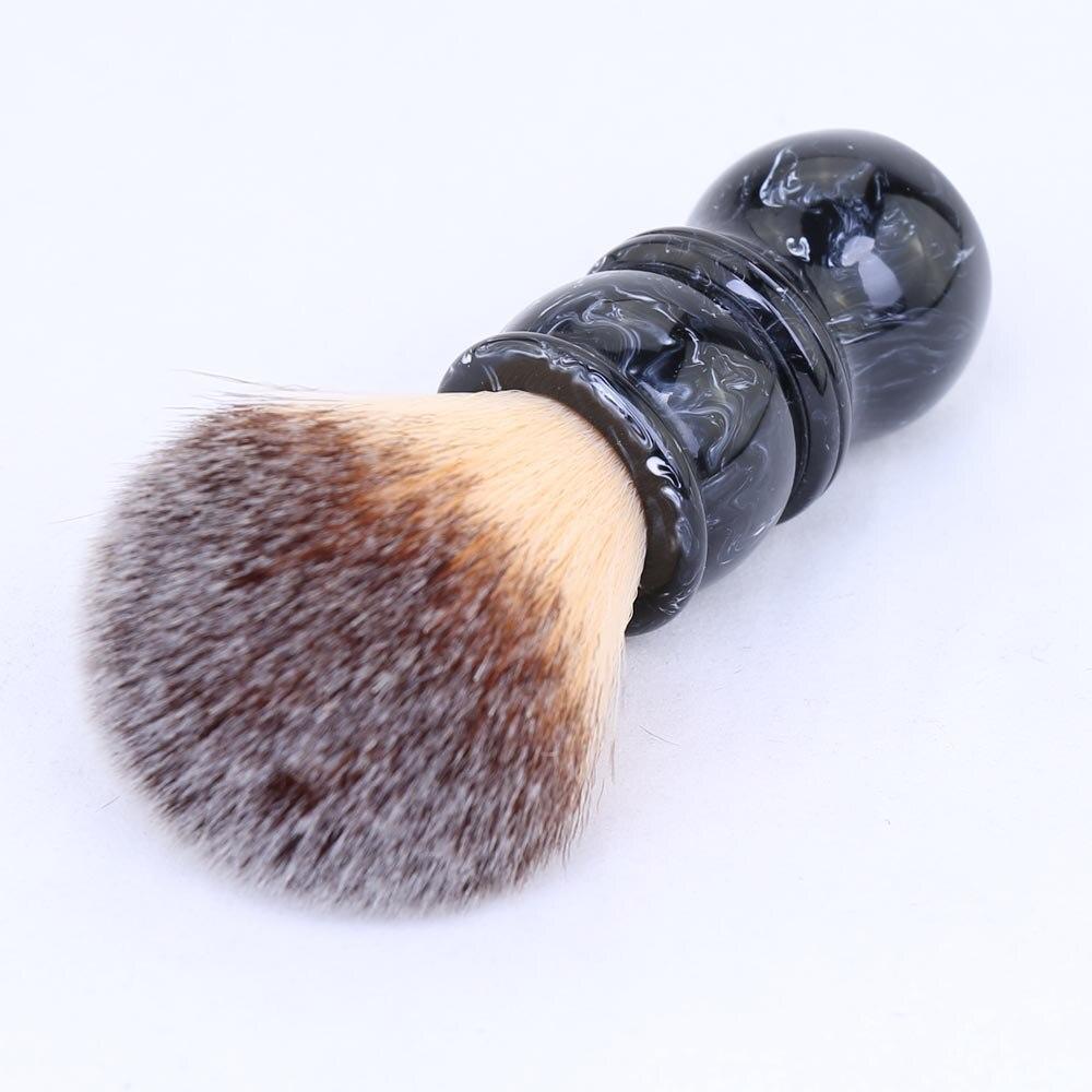 24MM Men's Shaving Brush  Resin Handle Nylon For Men Clearance Beard Professional Barber Face Cleaning Razor Shaving Brush Tool 0 2mm nylon plate cleaning brush nylon cylinder roller brush use for ceramic anilox roll metal roller