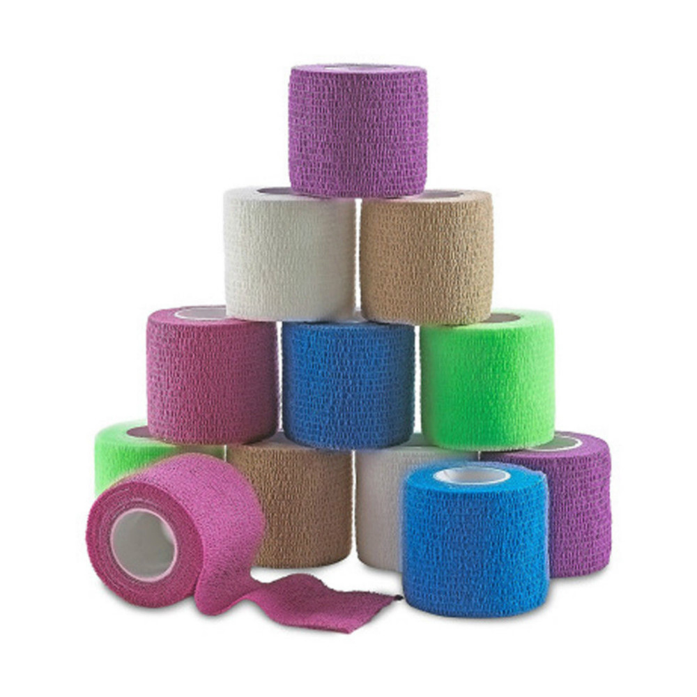 10 Pcs Medical Grade Tattoo Bandage Self-adhesive Elastic Tape 4.5m For Grip