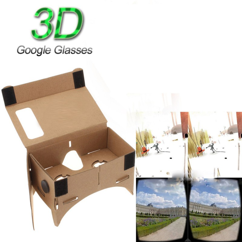 Nueva diy 3d cartón vr gafas de realidad virtual para google nexus 4/5 samsung a